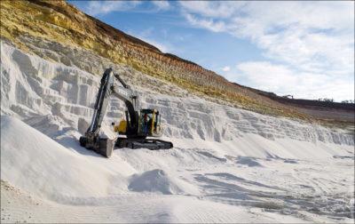 Открытый способ добычи кварцевого песка